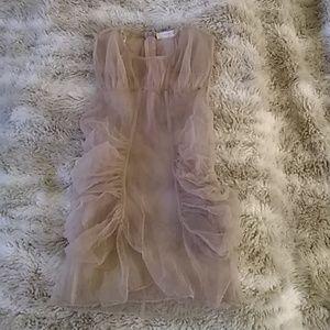 Zara pale pink top sz m (runs small!)